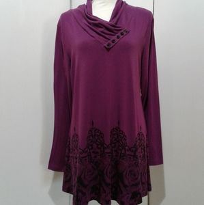 🌺 Nearly New Gaharu Tunic Top/Shirt/Blouse
